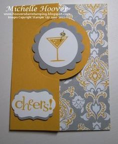 Happy Hour Circle Card Thinlit #stampinup #birthday www.toocoolstamping.com