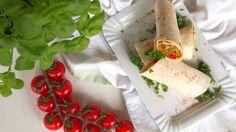 vegane Wraps mit Couscous und Gemüse Fülle