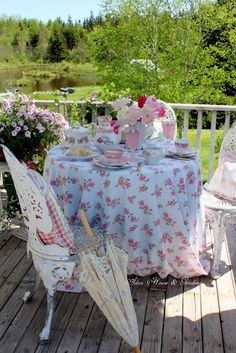 Romantic Pink Balcony Tea (Aiken House & Gardens)