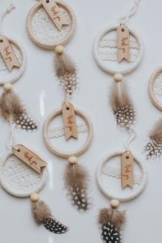 Wood Thank You Tags for your Wedding Dreamcatcher Favors (Add on) – Wedding Favors Tags Wedding Favor Tags, Wedding Party Favors, Dream Catcher Craft, Dream Catcher Wedding, Christmas Crafts, Christmas Ornaments, Snowman Ornaments, Xmas, Christmas Tree
