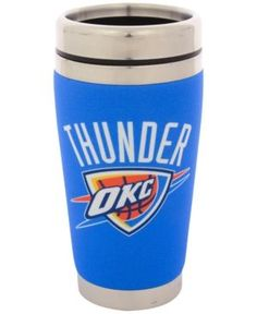 Hunter Manufacturing Oklahoma City Thunder 16 oz. Stainless Steel Travel Tumbler - Blue