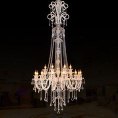 Large Modern Crystal Chandelier For High Ceiling Extra Large Chandelier Living Room Led Luxury - Kronleuchter Luxury Chandelier, Large Chandeliers, Chandelier In Living Room, Ceiling Chandelier, Contemporary Chandelier, Ceiling Lights, Modern Lamps, Modern Room, Big Beautiful Houses