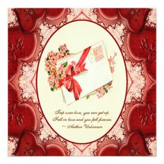 Victorian Hearts Valentine  Wedding Invitation
