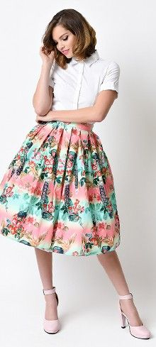 1940&-39-s skirt Bugle Boy- retro Lindyhop A-line skirt- made to ...