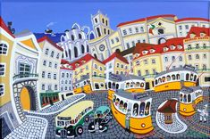"""durão was born in 1957 in lisbon, portugal """"lisboa, rossio"""" Beyond Beauty, Political Art, Great Paintings, Spain And Portugal, Cultural, Naive Art, Most Beautiful Cities, Folk Art, The Good Place"""
