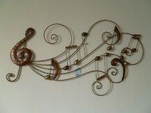 Beautiful wanddeko metall auf Dawanda Wanddekoration Musik