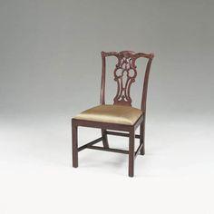 Carved Regency Mahogany Finish Chippendale Straight Leg - 4030-300