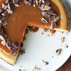 caramel-toffee cheesecake