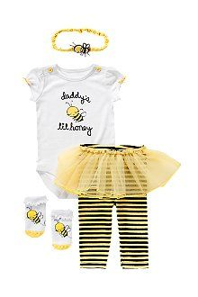 Daddy's Lil Honey onesie, the tutu pants, and the bumblebee shoes on my other pin!