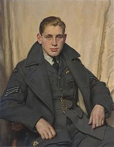 'Portrait of an officer of the RAF during World War II', 1941 by David Jagger (British 1891-1958)
