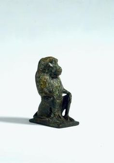 Statuette of a seated male baboon. Egypt. Late Period-Roman Period, c. 400 BC-AD 100. Bronze. h. 6.4 cm. Acquired 1975. Robert and Lisa Sainsbury Collection. UEA 605. www.scva.ac.uk