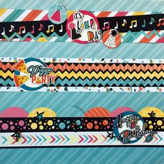 """Creative Memories border ideas using the """"Cake My Day"""" collection that launched Jan Birthday Scrapbook Layouts, Scrapbook Borders, Scrapbook Designs, Scrapbook Embellishments, Scrapbook Sketches, Scrapbook Page Layouts, Paper Bag Scrapbook, My Scrapbook, Scrapbook Supplies"""
