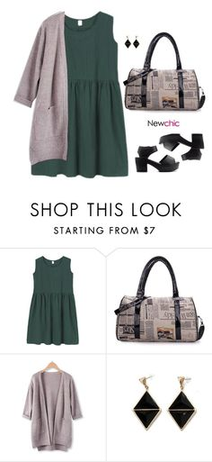 """Newchic style - newspaper"" by blueeyed-dreamer ❤ liked on Polyvore featuring newchic"