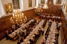 Formal hall, Clare College