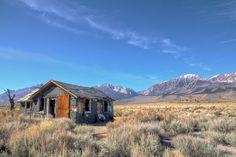 Abandoned cabin in California