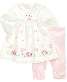 Little Me Baby Set, Baby Girls Printed Dress & Leggings Cute Toddler Girl Clothes, Toddler Girl Outfits, Toddler Dress, Baby Dress, Kids Outfits, Cute Nightgowns, Baby Boutique Clothing, Cute Girl Dresses, Girl Sleeves