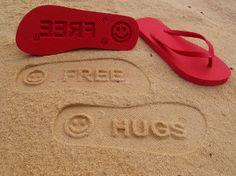 Free Hugs Flip Flops by FlipSide Flip Flops