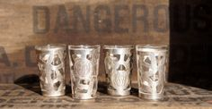 Mexican Silver Tequila Shot Glasses by StarShineVintage on Etsy