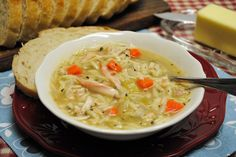 Chicken Soup with orzo pasta... Gonna try to make this today, we'll see...