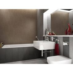 Bathroom Lighting, Toilet, Sink, Bathtub, Mirror, Brown, Inspiration, Furniture, Design