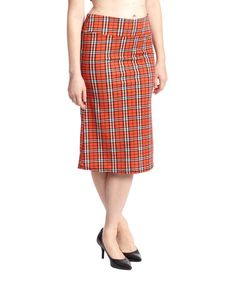 Another great find on #zulily! Red Plaid Skirt - Women by MIA MIA #zulilyfinds