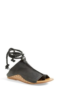 Free shipping and returns on Free People 'Cherry Valley' Sandal (Women) at Nordstrom.com. Slide into a breezy summer sandal with stud details and a braided suede rope that wraps around the ankle.