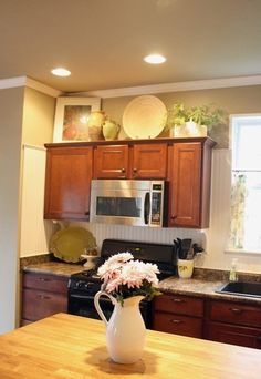How To Decorate Above Kitchen Cabinets Diy Life Pinterest
