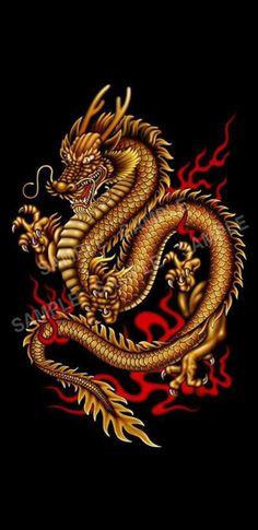 Lucky Wallpaper, Dragon Wallpaper Iphone, Japanese Wallpaper Iphone, Dragon Tattoo Forearm, Dragon Tattoo Art, Dragon Artwork, Chinese Dragon Art, Chinese Dragon Tattoos, Dragon Oriental