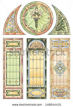 Examples of stained glass windows for decoration in the Gothic style church or other religious buildings Stained Glass Church, Stained Glass Art, Stained Glass Windows, Stained Glass Designs, Stained Glass Patterns, Tiffany, Leaded Glass, Window Glass, Glass Partition