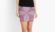 Violet and White Paisley Pattern little skirt. Cute and casual, inexpensive for summer! would look cute with a white tank top and sandals