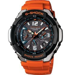 Casio Quartz, Orange Band Black Dial – Unisex Adult Watch GW3000M-4A By Casio – Discount only for limited time, Check Price Now - Casio is one of the world's leading manufacturer of high tech watches. Casio has the most advanced models including the Pathfinder, Databank, WaveCeptor, G Shock, Baby-G and more.