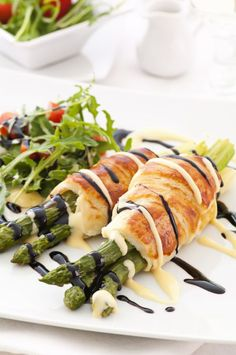 Fancy Appetizer Recipe: Pastry-Wrapped Roasted Asparagus with Dipping Sauce - 12 Tomatoes