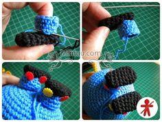 Amigurumi minions Stuart, paso a paso en español Minion Crochet Patterns, Minion Pattern, Crochet Flower Patterns, Amigurumi Patterns, Crochet Bunny, Crochet Dolls, Crochet Monsters, Handmade Soft Toys, Crochet Motifs