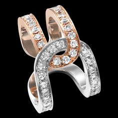 """Rose and white 18k gold Possession Diamond ring .88 ct from Piaget...   """"you are mine and I am yours"""""""