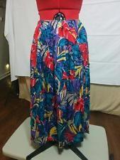 BUY IT NOW! 25% OFF! Vintage 80's Floral Full Skirt Leslie Fay Plus Size 20W 1X / 2X Button Side Slit  | eBay