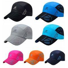 Mesh Cap Men Women Casual Sunshade Quick Dry Anti-UV Adjustable Hats Outdoor
