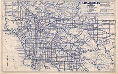 A 1940 State Farm map of Los Angeles-area highways. Courtesy of the David Rumsey Map Collection.