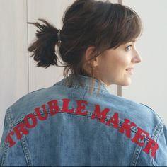 New #DakotaJohnson picture! The Trouble Maker! Love it!