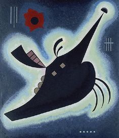 Pointed Black, 1931 (Oil on Canvas), by Wassily Kandinsky Kandinsky Art, Wassily Kandinsky Paintings, Abstract Words, Abstract Art, Klimt, Reproduction, Heritage Image, Abstract Expressionism, Art History