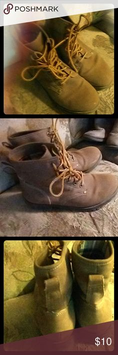 Boots Brown Rock & Candy leather boots, youth size 2, worn condition with plenty of life to them rock & candy Shoes Boots