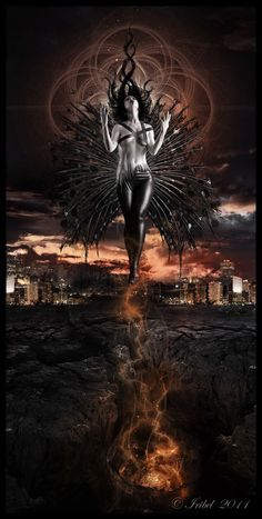 The Great Pandemonium by Iribel on DeviantArt Gothic Fantasy Art, Fantasy Art Women, Fantasy Artwork, Dark Gothic Art, Ange Demon, Demon Art, Beautiful Dark Art, Satanic Art, Evil Art