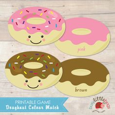 Doughnut Colour Matching Game AUTOMATIC by BUSYLITTLEBUGSshop, $6.95
