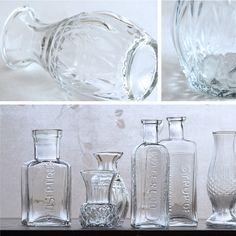 antique glass pot アンティーク調 ミニガラスポット