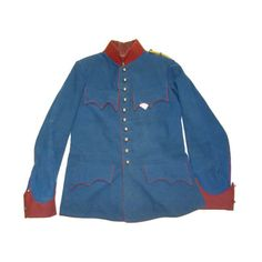 Front view of a World War 1 Austrian cavalry tunic.