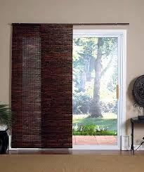 Banded Bamboo Panel Family Room Sliding Glass Door HOME Is - Bamboo sliding glass door curtains