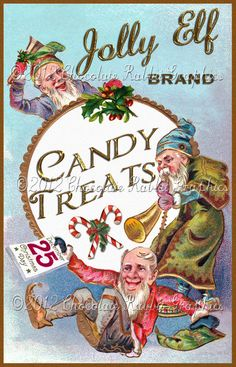 Christmas Vintage Label Tag Candy Digital Download Collage Christmas Treat Bags, Christmas Cards To Make, Christmas Past, Christmas Candy, Vintage Candy, Vintage Tags, Vintage Labels, Antique Christmas, Primitive Christmas