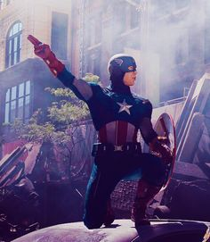 Captain America, during the Battle for New York City