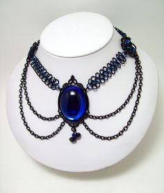 Gothic, choker, chainmaille, necklace.  Gothic jewelry, goth, fae, costume, Dark Fairy Tale, cosplay, costume