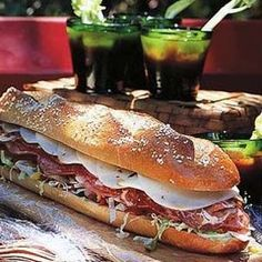 Recipe for Italian Hero Sandwich. This is the sandwich to make when you want an attention grabber! At a good Italian delicatessen, you will be able to find the peppers and sliced meats as well as a crusty loaf that will hold all the fixings.