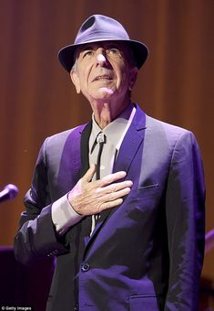 Straight shooter: Music icon Leonard Cohen, 82, told the New Yorker he's 'ready to die' at 82 amid failing health